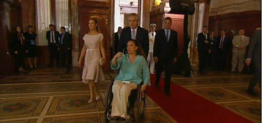 El gesto de Alberto Fernández con Gabriela Michetti antes de la asunción presidencial que todos destacaron