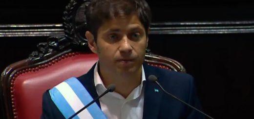 Con la presencia de Alberto y Cristina, Axel Kicillof asumió como nuevo gobernador de Buenos Aires