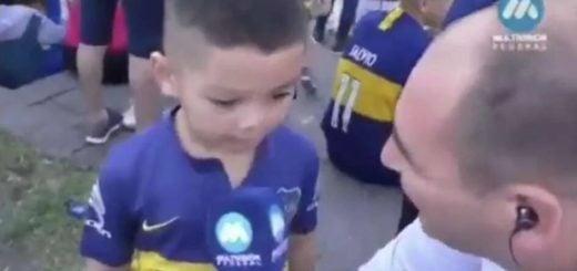 Furor en las redes por el video del nene que fue a los festejos de Boca y dijo ser hincha de River
