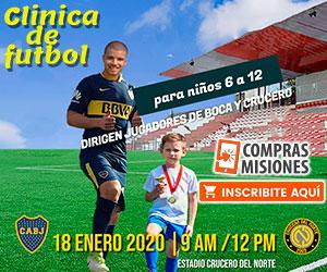 Crucero del Norte ya promociona el amistoso con Boca Juniors en su Web...Apurate: ingresá aquí y adquirí las entradas por Internet