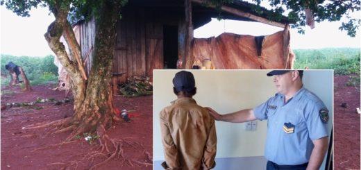 Detuvieron a un hombre tras el asesinato a puñaladas del peón en una chacra de Garuhapé