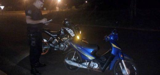 Oberá: dos detenidos, motocicletas y un vehículo retenido en los operativos policiales