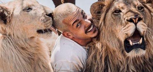 Viral: la escena entre un león y su cuidador que causó ternura en las redes