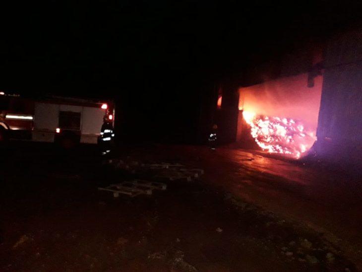 Se incendió el secadero de la yerba mate «Cuarto de Milla» en Campo Grande