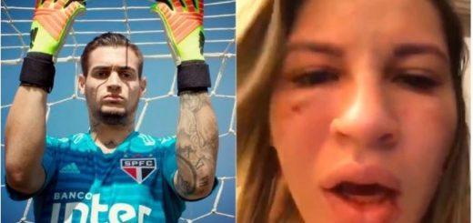 Una mujer se filmó tras sufrir violencia de género: el acusado es el arquero de Sao Paulo