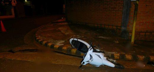 Alem: un hombre falleció tras despistar con su moto