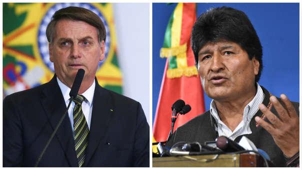 """A Jair Bolsonaro le preocupa el refugio de Evo Morales en la Argentina porque podría """"desestabilizar"""" al país"""