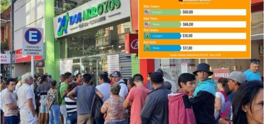 """No aplaca la """"fiebre verde"""" en Posadas, el dólar se vende todavía sin el 30% de recargo"""
