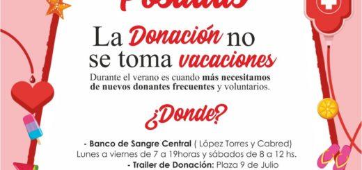 """Impulsan la campaña """"La Donación no se toma Vacaciones"""" en el Banco de Sangre de Misiones"""