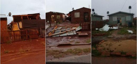 Barrios humildes de Posadas fueron los más afectados por la tormenta de este jueves