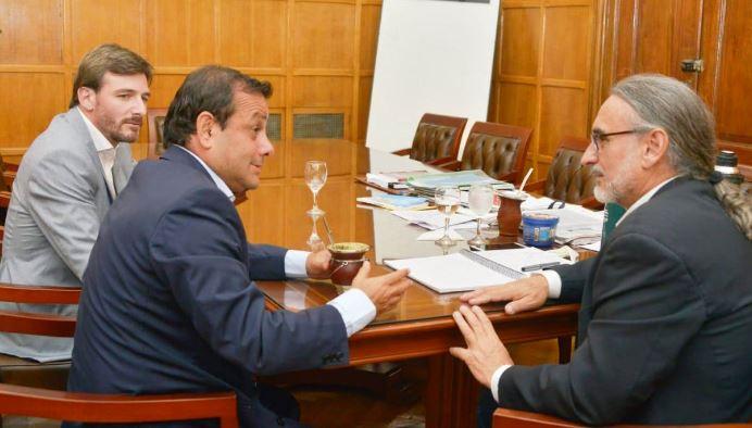 El gobernador Herrera Ahuad y el ministro Oriozabala se reunieron con el ministro de Agricultura de la Nación Luis Basterra