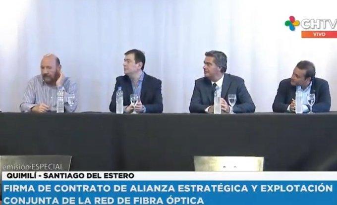 Oscar Herrera Ahuad junto a tres gobernadores firmó convenio para extender la Red Capricornio hasta Santiago del Estero