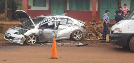 Eldorado: automovilista ebrio protagonizó un espectacular accidente