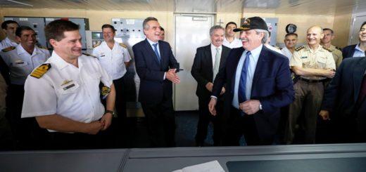 El presidente Alberto Fernández dio inicio a la campaña antártica del rompehielos ARA Almirante Irízar