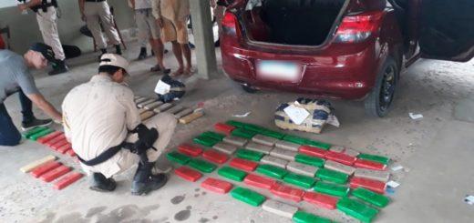 Prefectura interceptó un cargamento de 50 kilos de marihuana: cuatro detenidos en Paso de la Patria, Corrientes