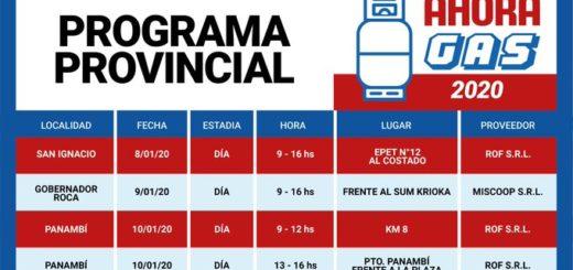 Volvió el #AhoraGas: esta semana estará en San Ignacio, Roca y Panambí