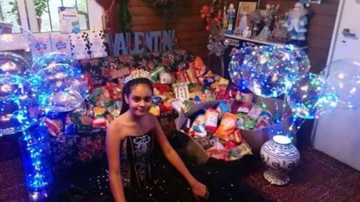 Un gesto conmovedor: festejó sus 15 años y pidió de regalo alimentos para los comedores infantiles