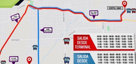 Eldorado: habilitaron colectivos que salen de la Terminal de Ómnibus y llegan al hospital Samic