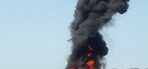 Video: impresionante incendio de un colectivo de larga distancia cerca de Virasoro Corrientes