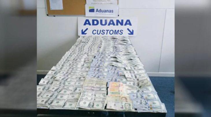 Un argentino fue detenido en Uruguay al intentar entrar con U$S 40.000 en sus zapatillas