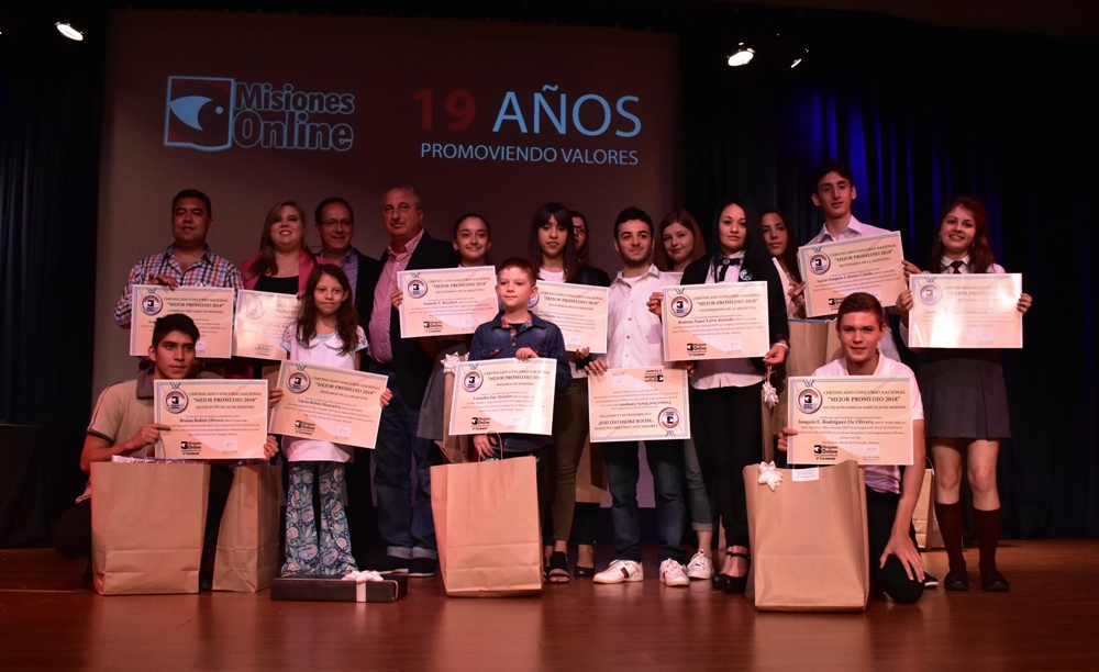 Estudiantes de Misiones, Salta, San Luis, Chaco, Santa Fe y La Rioja entre los ganadores del Concurso Mejor Promedio 2019 de Misiones Online