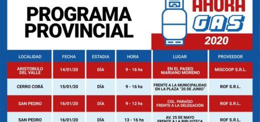 El Ahora Gas estará esta semana en Aristóbulo del Valle, Cerro Corá y San Pedro