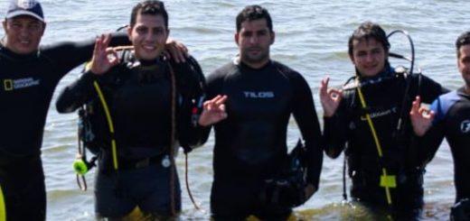 Reservistas de la Armada Argentina capacitaron en buceo a bomberos de Misiones