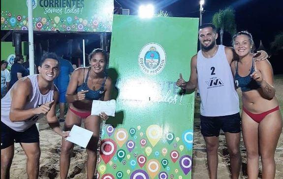 Beach voley: dupla posadeña obtuvo el primer puesto en Corrientes