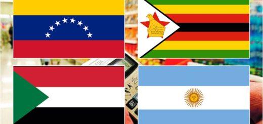 Argentina en el 4° lugar del ranking mundial de países con más inflación
