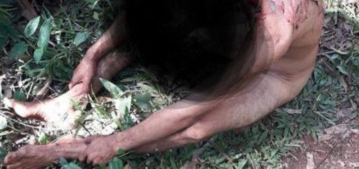 En una calle de Eldorado encontraron a un joven desnudo y con heridas de arma blanca