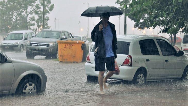 Temporal en Posadas: en dos horas llovió un tercio de lo que llueve en todo un mes