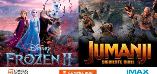Vacaciones: las nuevas de Frozen y Jumanji te esperan en el IMAX…Adquirí aquí las entradas por Internet