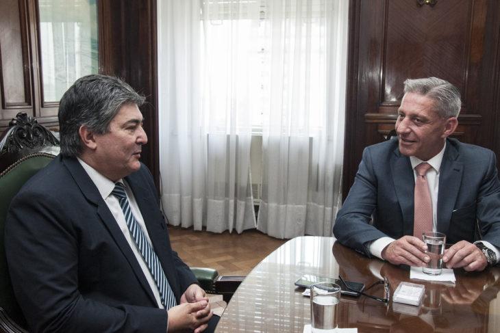 Sergio Lanziani recibió al gobernador de Chubut
