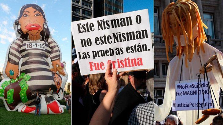 """""""No fue suicidio, fue magnicidio"""": la consigna del homenaje a Nisman en Buenos Aires"""