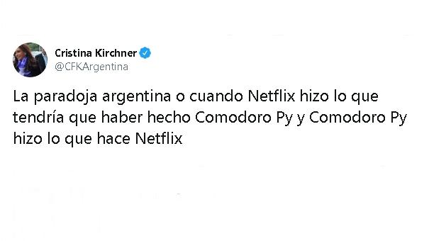 """Cristina sobre el caso Nisman: """"Netflix hizo lo que tendría que haber hecho Comodoro Py y Comodoro Py hizo lo que hace Netflix"""""""