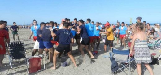 Otra pelea de rugbiers: terminaron a las piñas en una playa de Río Negro