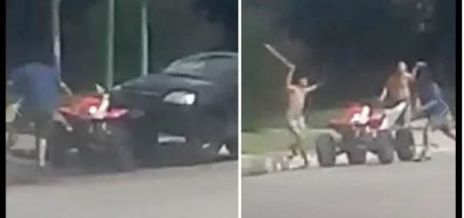 Salvaje pelea en Tucumán: machetazos, palos y un auto embistiendo un cuatriciclo