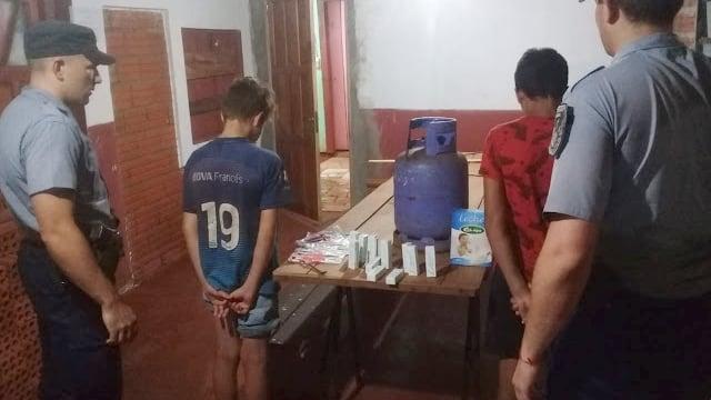 Dos jovencitos robaron leche en polvo y una garrafa en una iglesia de San Vicente