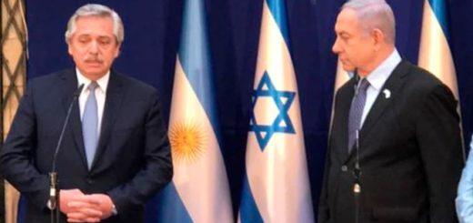 """Alberto Fernández se reunió con el primer ministro de Israel: """"Nuestro compromiso es y fue saber qué pasó en la AMIA"""""""