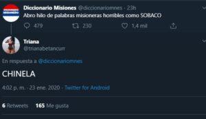 """El hilo de Twitter con """"palabras horribles misioneras"""" que se volvió viral"""