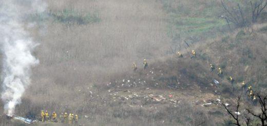 Cómo quedó el helicóptero en el que viajaba Kobe Bryant tras el accidente