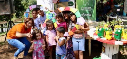 """Con actividades recreativas para los chicos se llevó a cabo en Eldorado la jornada """"El ambiente nos une"""""""