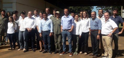 Stelatto acompañó al ministro Juan Cabandié en su visita a Posadas