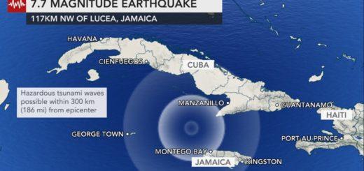 Alerta de tsunami en Cuba, Jamaica e Islas Caimán tras un sismo de magnitud 7,7 en el Caribe