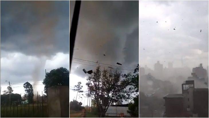 Un aparente tornado causó destrozos en Posadas