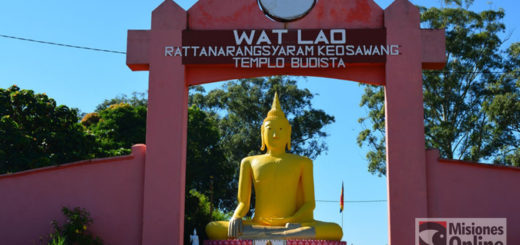 """Laosianos de Misiones terminaron de construir su colosal Buda e invitan a la ceremonia que le """"dará vida"""""""