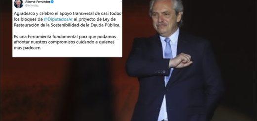 """El Presidente celebró el """"apoyo transversal"""" en Diputados para la media sanción de la Ley de Restauración de la Deuda Externa"""