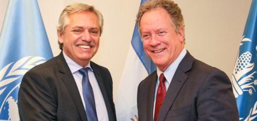 Alberto Fernández se reunió con el director del Programa Mundial de Alimentos