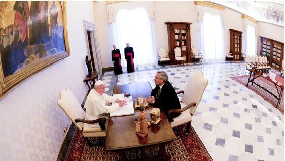 Alberto Fernández, tras la reunión con el Papa: «Lo vi preocupado por el pueblo argentino y por la deuda, hará lo que pueda para ayudarnos»