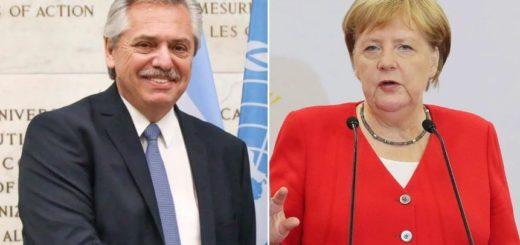 Alberto Fernández se reúne con Merkel en busca de apoyo para la reestructuración de la deuda